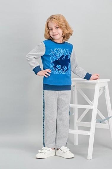 U.S. Polo Assn. U.S. Polo Assn Lisanslı Saks Erkek Çocuk Eşofman Takımı Mavi